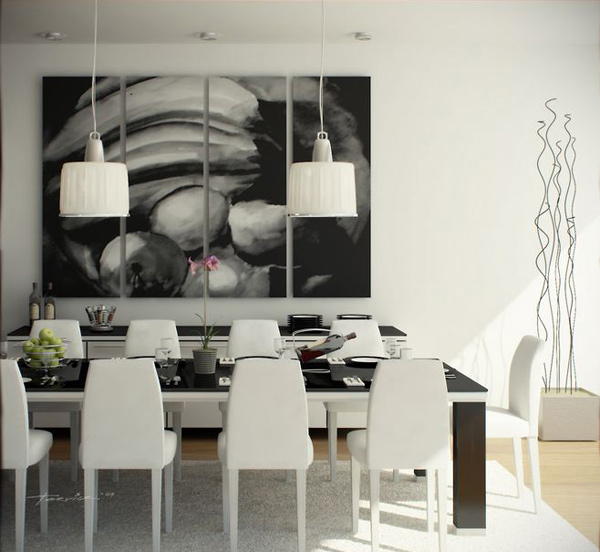 White Dining Area