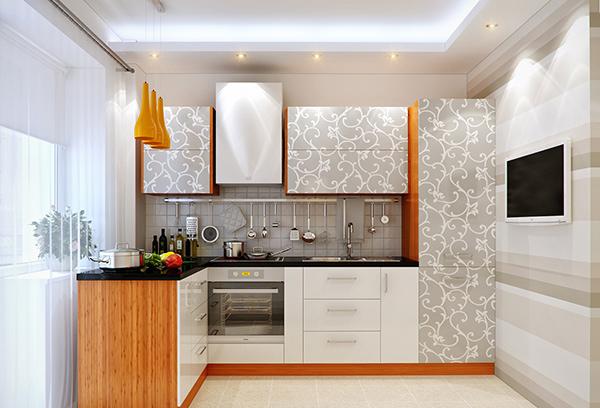 Floral swirls cabinet