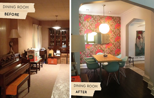 Before After Sherrys Dining Room