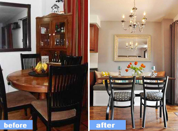 Outdated Dining Area Get Fresh Make Over